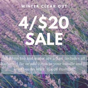 Winter Clear Out 4/$20 Sale!